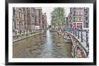 Amsterdam Canal, Framed Mounted Print