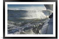 Beating down to Yarmouth, Framed Mounted Print