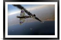Spitfire Channel dogfight, Framed Mounted Print