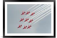 The Red Arrows diamond nine inverted, Framed Mounted Print