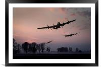 Dambusters departing, Framed Mounted Print