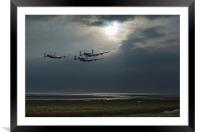 Dambusters training over The Wash, Framed Mounted Print