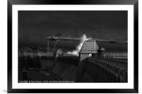 Hopgood's last run, black and white version, Framed Mounted Print
