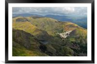 Vulcan low-level in the Lakes, Framed Mounted Print