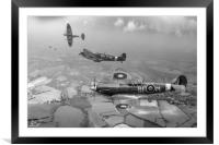 303 Squadron Spitfire sweep, Framed Mounted Print