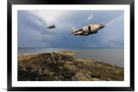 Sea Harriers over the Falklands, Framed Mounted Print