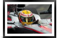 Lewis Hamilton, Framed Mounted Print