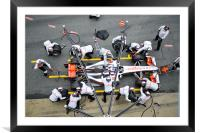 Jenson Button Pitstop 2010, Framed Mounted Print