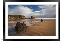 Monkstone Point, Framed Mounted Print