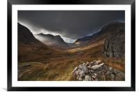 Three Sisters Glencoe, Framed Mounted Print