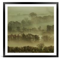 Pencelli Mist, Framed Mounted Print