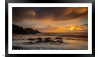 Mumbles Lighthouse from Bracelet Bay, Framed Mounted Print