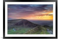 Sunrise Over Mam Tor and The Hope Valley, Framed Mounted Print