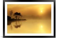 Loch Ard morning glow, Framed Mounted Print