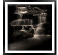 Lumsdale Valley Waterfalls, Framed Mounted Print