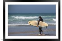 Waiting for the surf, Framed Mounted Print