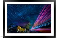 Star car and lorry trails re-visited, Framed Mounted Print