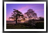 Knowl Water sunrise, Framed Mounted Print