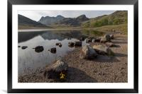 Langdale Pikes and Blea Tarn, Framed Mounted Print