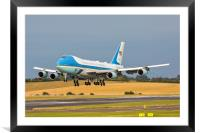 Air Force One, Framed Mounted Print