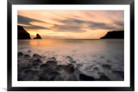 Talisker Bay Sunset, Framed Mounted Print