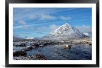 Buachaille Etive Mor and The River Etive, Framed Mounted Print