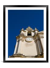 Mdina Cathedral Steeple, Framed Mounted Print
