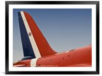 Red Arrows Tailfin, Framed Mounted Print