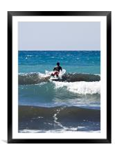 Into The Waves, Framed Mounted Print