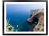 Blue Grotto, Framed Mounted Print