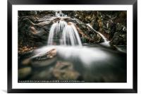 highland waterfall, Framed Mounted Print
