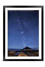 The mount and the milkyway, Framed Mounted Print