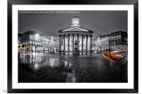 GOMA royal exchange square glasgow, Framed Mounted Print