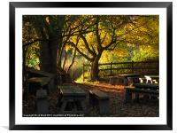 Autumn in the Classroom, Framed Mounted Print