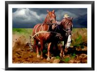 Plough Horses, Framed Mounted Print