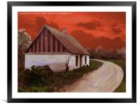 Storm Cottage, Framed Mounted Print