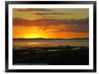 Thames NZ sunset, Framed Mounted Print