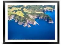 Coromandel coastline NZ, Framed Mounted Print