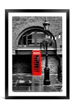 British Red phonebox, Framed Mounted Print