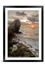 Sun Blast at Pulpit, Framed Mounted Print