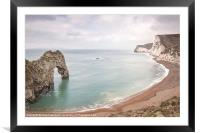 Durdle Door Sweep, Framed Mounted Print