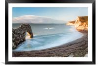 In the Shadow of Durdle Door, Framed Mounted Print