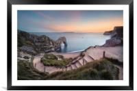 Winding Way to Durdle Door, Framed Mounted Print