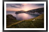 Last Light at Lulworth, Framed Mounted Print