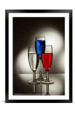 Red, White and Blue, Framed Mounted Print