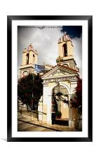 A Church in Siana, Rhodes, Framed Mounted Print