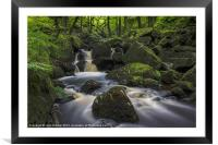Padley Gorge, Framed Mounted Print