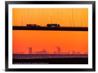 Working Dawn, Framed Mounted Print