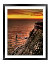 Beachy Head Sunset, Framed Mounted Print