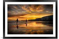 End Of A Perfect Day, Framed Mounted Print